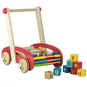 Boppi Wooden Walker with Alphabet & Number Blocks