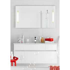 Hafa East Komplett Möbel Med Spegel 1200mm (Vit Högblank)