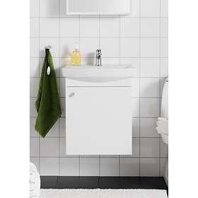 Hafa Life Komplett Möbel Med 1 Lucka & Spegelskåp 505mm (Matt Vit)