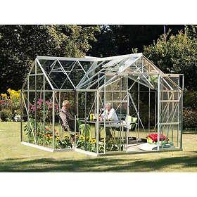 Vitavia Sirius 13000 Växthus Med Sockel 13kvm (Aluminium/Glas)