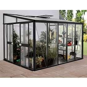 Vitavia Helena 10200 Väggväxthus 10,2kvm (Svart/Glas)