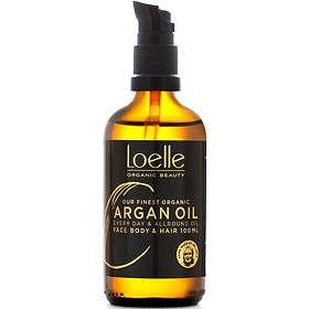 Loelle Argan Face Hair & Body Oil With Pump 100ml
