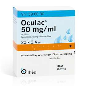Thea Oculac Eye Drops 20x0.4ml