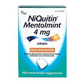Omega Pharma NiQuitin Medicinskt Tuggummi Mentolmint 4mg 100st