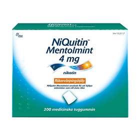 Omega Pharma NiQuitin Medicinskt Tuggummi Mentolmint 4mg 200st