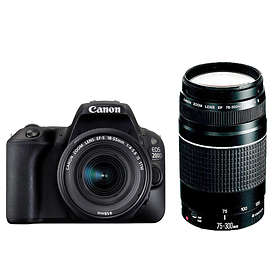 Canon EOS 200D + 18-55/4,0-5,6 IS STM + 75-300/4,0-5,6 III