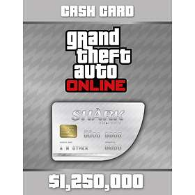Grand Theft Auto Online: Great White Shark Cash Card - $1,250,000 (PC)
