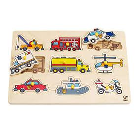 Hape Emergency Vehicles Peg Puzzle E1400