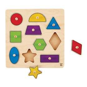 Hape Geometric Shapes Knob Puzzle E6320