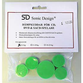 Sonic Design Dämpkuddar för CD/DVD/SACD 2-5kg 5-pack