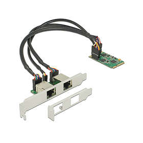 DeLock Mini PCIe I/O PCIe full size 2 x Gigabit LAN Low Profile (95258)