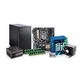 Komplett PC i delar Office Silent - 3,4GHz QC 8GB 240GB