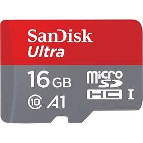 SanDisk Ultra microSDHC Class 10 UHS-I 98MB/s A1 16GB