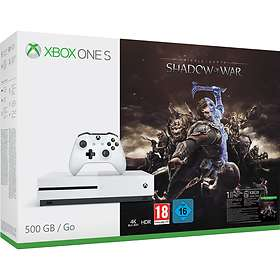 Microsoft Xbox One S 500GB (inkl. Middle-earth: Shadow of War)