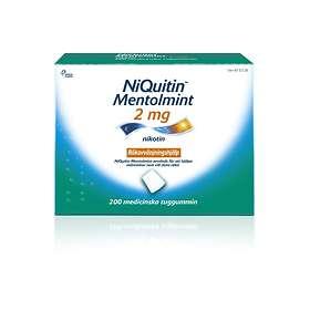 Omega Pharma NiQuitin Medicinskt Tuggummi Mentolmint 2mg 200st