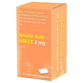 Evolan Nikotin Frukt ABECE Medicinskt tuggummi 2mg 96st