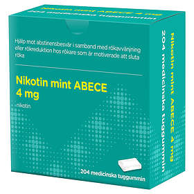 Evolan Nikotin Mint ABECE Medicinskt tuggummi 4mg 204st