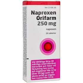 Orifarm Naproxen 250mg 20 Tabletter