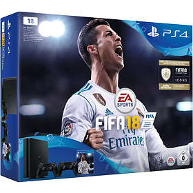 Sony PlayStation 4 Slim 1TB (inkl. FIFA 18 + 2nd DualShock 4 V2)