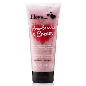 I Love... Strawberries & Cream Exfoliating Shower Smoothie 200ml
