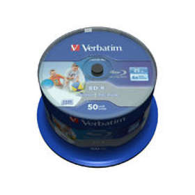 Verbatim BD-R 25GB 6x 50-pack Cakebox Wide Inkjet Printable