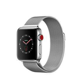 Apple Watch Series 3 4G 38mm Stainless Steel with Milanese Loop
