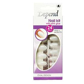 Depend Nail Set Medium Oval 24-pack