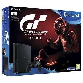Sony PlayStation 4 Slim 1TB (inkl. Gran Turismo Sport + 2nd DualShock 4 V2)
