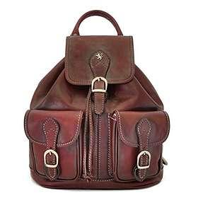 Pratesi Caporalino Bruce Range Italian Calf Leather Buckle Flap Backpack
