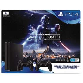 Sony PlayStation 4 Slim 1To (+ SW Battlefront II + 2nd DualShock 4 V2)