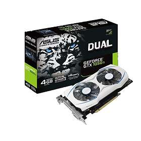Asus GeForce GTX 1050 Ti Dual OC Rev2 HDMI DP 4GB