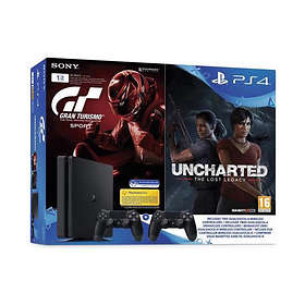 Sony PlayStation 4 Slim 1TB (inkl. 2nd DualShock + Uncharted LL + GT Sport)
