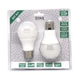 Star Trading LED Normal 470lm 2700K E27 6W 2-pack