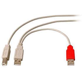 MicroConnect 2x USB A - USB B 2.0 1m