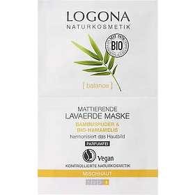 Logona Bio Bamboo & Witch Hazel Mattifying Lava Soil Mask 15ml