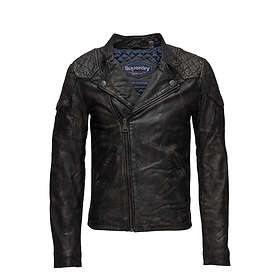 Superdry Endurance Indy Custom Leather Jacket (Herr)
