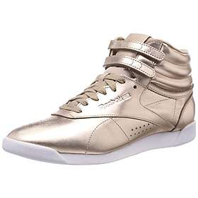 a6288f3040e Find the best price on Reebok Freestyle Hi Metallic (Women s ...