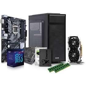 Komplett PC i deler - 3,6GHz QC 8GB 256DB