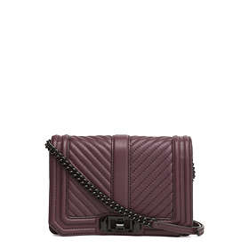 9728a3a103f4 Find the best price on Rebecca Minkoff Chevron Quilted Small Love ...