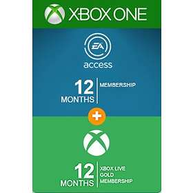 Microsoft Xbox Live Gold 12 Months Card + 12 Months EA Acess