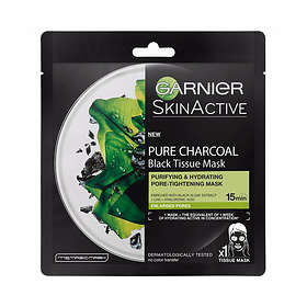 Garnier SkinActive Pure Charcoal Purifying & Hydrating Black Tissue Mask 43g