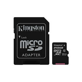 Kingston Canvas Select microSDXC Class 10 UHS-I U1 80Mo/s 256Go
