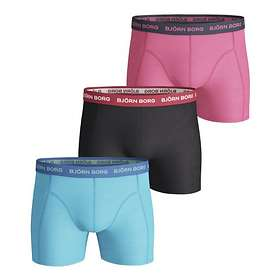 Björn Borg Seasonal Solid Essential Shorts 3-Pack