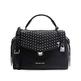 Michael Kors Bristol Studded Leather Satchel Bag