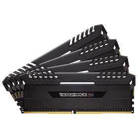 Corsair Vengeance Black RGB LED DDR4 3000MHz 4x16GB (CMR64GX4M4D3000C16)