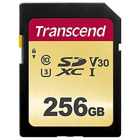 Transcend 500S SDXC Class 10 UHS-I U3 V30 256Go