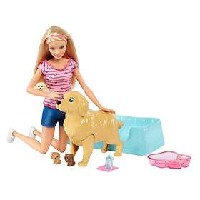 Barbie Newborn Pups Doll & Pets FDD43