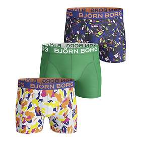 Björn Borg Flowersome & Tropic Leaves Cotton Strecth Shorts 3-Pack
