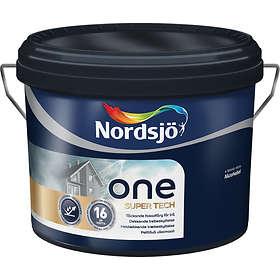 Nordsjö One Super Tech Fasadefarge Base Hvit 1l