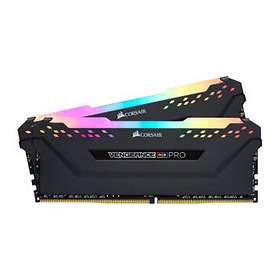 Corsair Vengeance Black RGB LED Pro DDR4 3000MHz 2x8Go (CMW16GX4M2C3000C15)